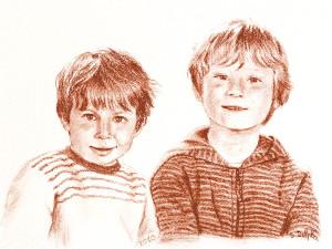 portrait-sanguine-paul&charles2