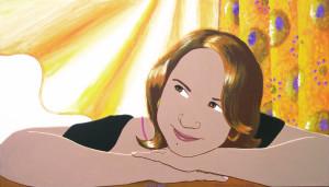Portrait de Vérane, acrylique