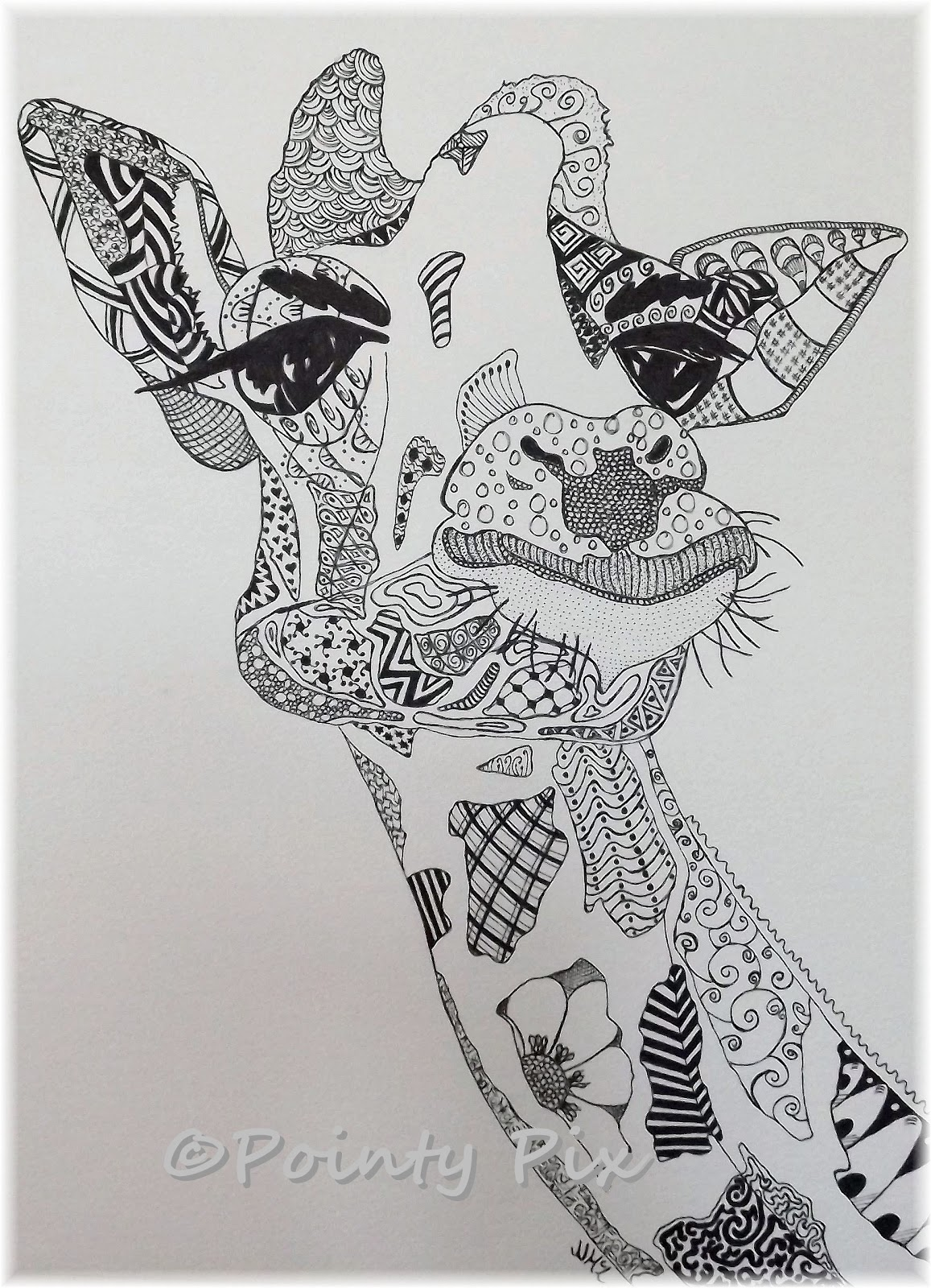 Zentangle ideas on pinterest zentangle giraffes and for Giraffe mandala coloring pages