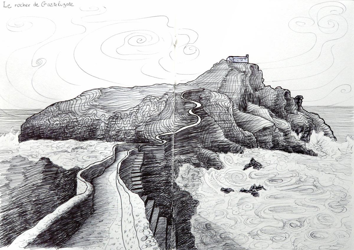 Stage de dessin de mars l artsenal le crayon perch - Dessiner un paysage ...